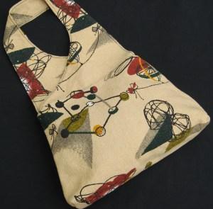 50s inspired Barkcloth fabric