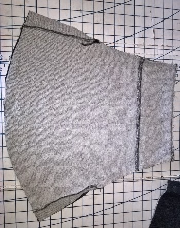 refashioned sweatshirt